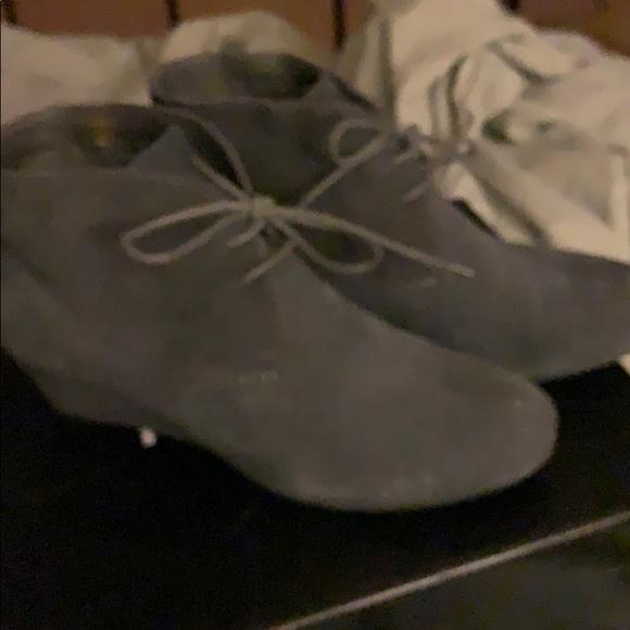 Grey suede botties